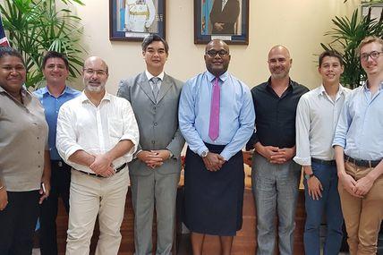 Câble sous-marin : Une délégation calédonienne en visite aux îles Fidji !