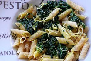 pasta aux épinards à la créme de mascarpone au curcuma