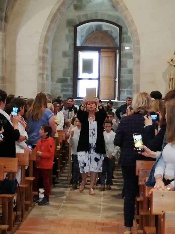 Communions, retraite à l'Hermitage,  célébrations Lézigneux, St Bonnet le Courreau