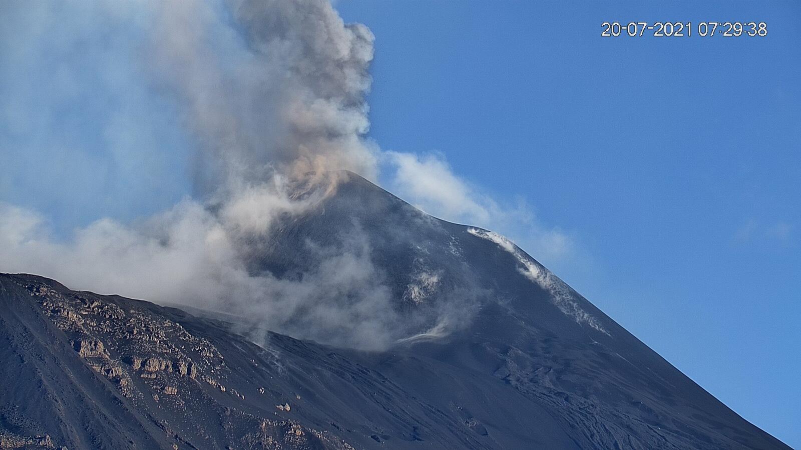 Etna SEC - 07.20.2021 / 07:29 - new webcam LAVE