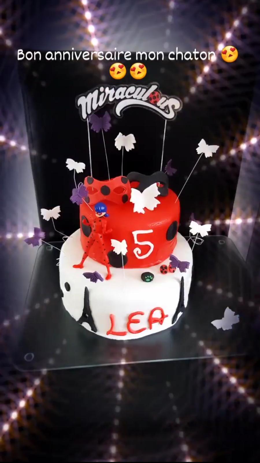 Gâteau d'anniversaire Miraculous Lady Bug