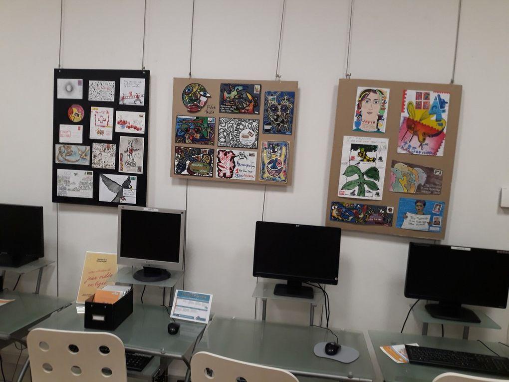 voici quelques oeuvres réalisées cette semaine dans deux écoles et une bibliothèque