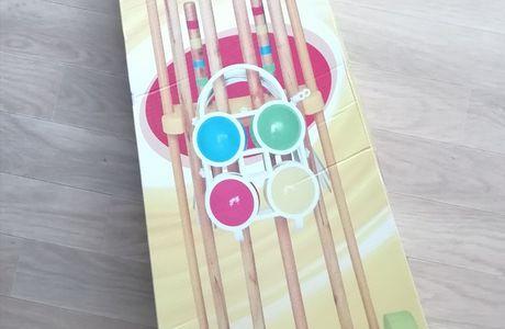 On a découvert en famille le jeu de croquet 4 joueurs avec Maxi Toys