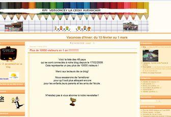 Le blog du RPI La Croix Vergoncey plus de 10 000 visiteurs en 1 an ...