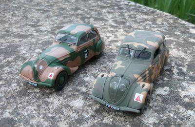Peugeot 402 et 402 B légère au 1/43 (Hachette/Norev - Altaya/Ixo))