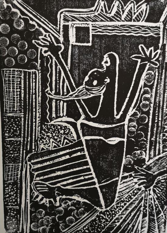 Gravures en s'inspirant de Picasso