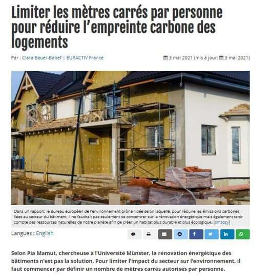 L' #UE préparerait la limitation de la propriété immobilière, «pour la #planète»: les Khmers verts écologistes veulent limiter les m² par personne