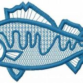 King fish applique free embroidery design
