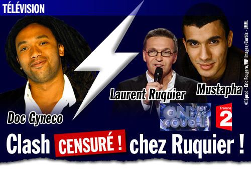 Doc Gynéco VS Mustapha et Laurent Ruquier : Clash censuré chez Ruquier !