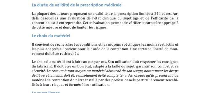 Contention: Prescription