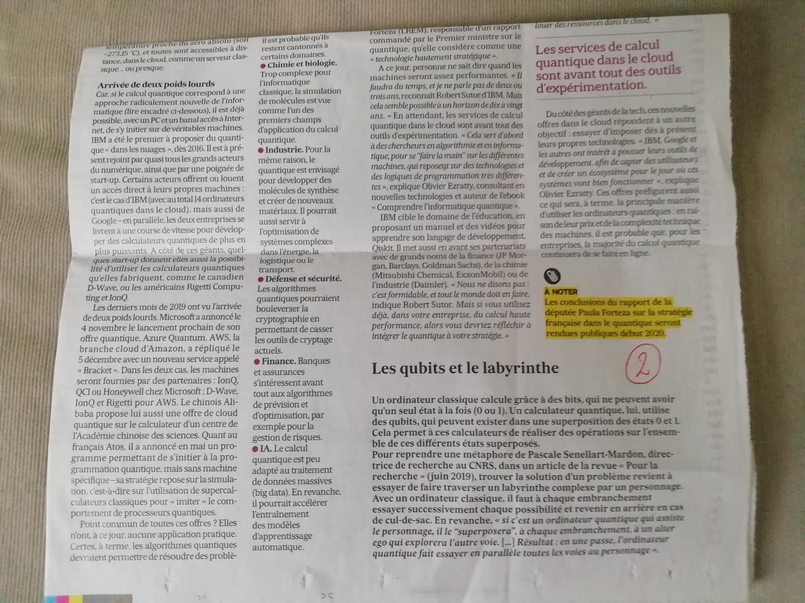 Vus et lus dans Industrie & Technologies n° 1018 de mars 2019, et Les Echos du 19/12/19