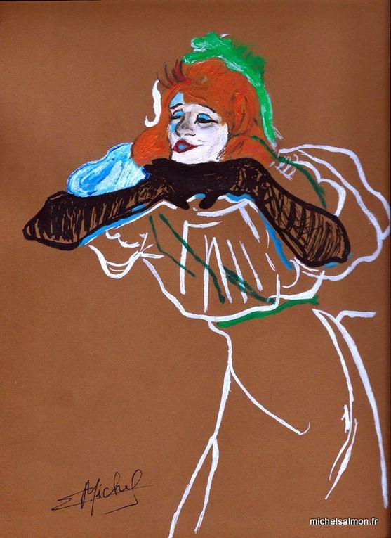 Mes pâles reproductions d'œuvres de Henri Toulouse-Lautrec