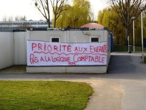 Grève dans les écoles à Aulnay-sous-Bois le 19 septembre 2016