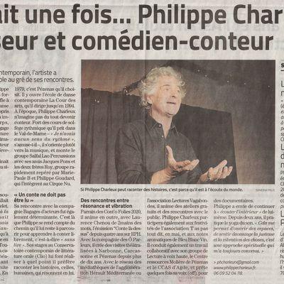 Portrait, paru dans Midi-Libre du 09-02-2020