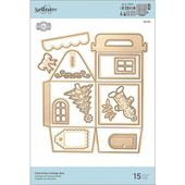 SPS6-156 : DIES - Charming Cottage Box FEE DU SCRAP