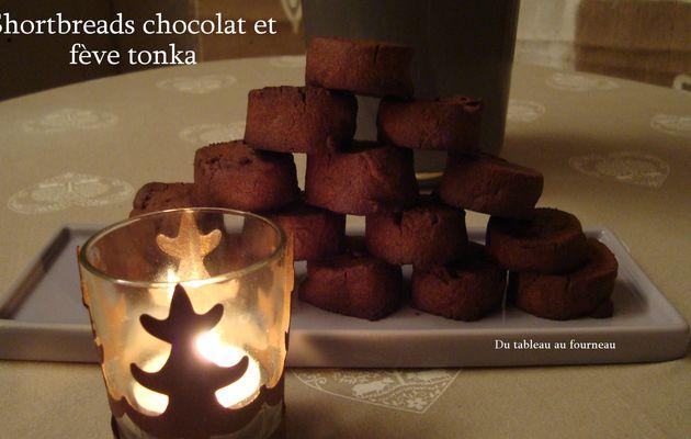 Shortbreads chocolat et fève tonka