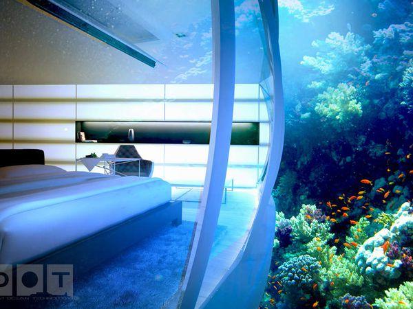 10 visuels de l'extraordinaire hôtel sous-marin Water Discus Hotel de Dubaï