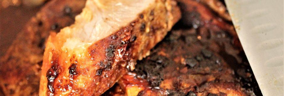 Rouelle de Porc au Four, Sauce aux Haricots, Saveurs Chinoises