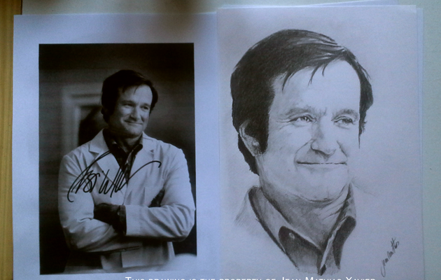 ROBIN WILLIAMS- Portait au crayon- drawing pencil