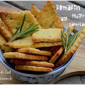 Crackers Maison à l'Huile d'Olive, Ail et Romarin (sans oeuf)