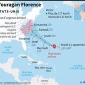 USA : L'ouragan Florence s'approche de la côte Est américaine, la population se prépare - MOINS de BIENS PLUS de LIENS