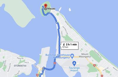 18 novembre 2020 De Tauranga à Mont Manganui à pieds ... 5 kms de belle balade