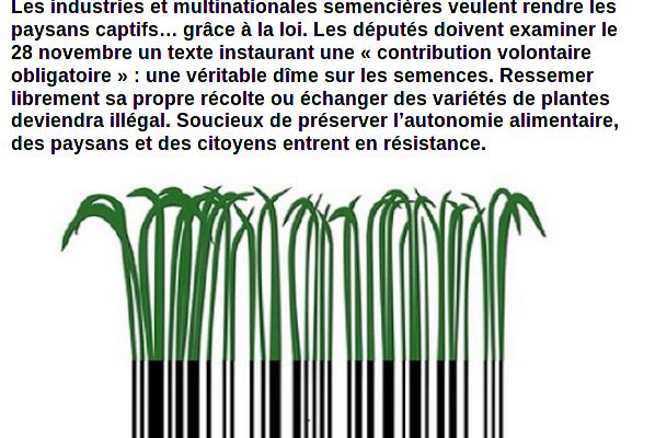 #Cultiver #librement bientôt interdit ? !!!!!   #resistance