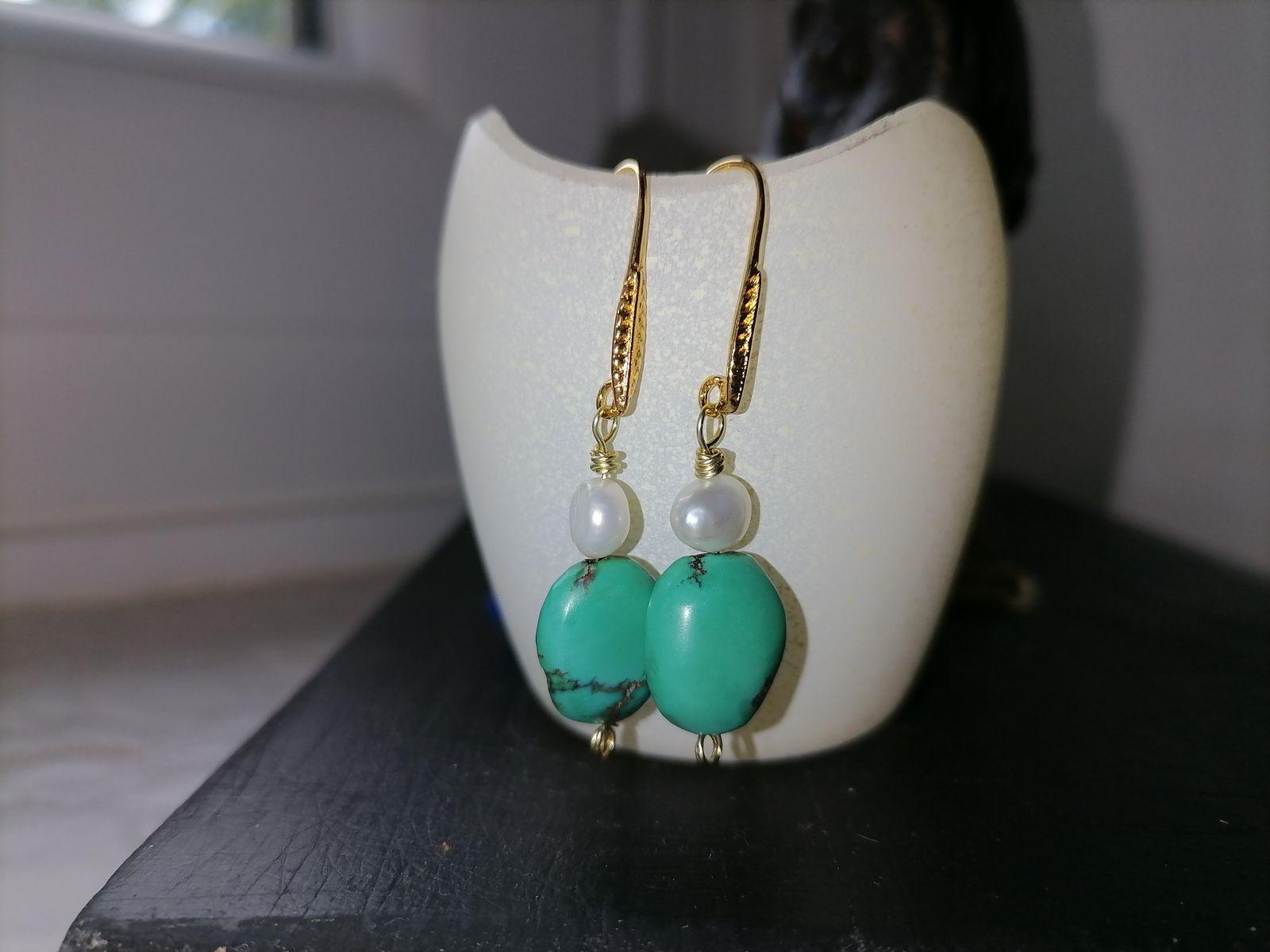 BO6 Turquoises, perles de cultures