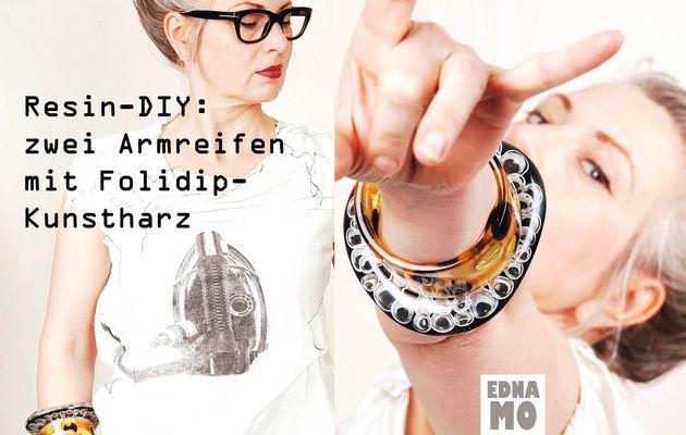 DIY - zwei Armreifen mit Folidip Kunstharz
