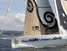 Vendee Globe ; Passage de ligne de Bertrand de Broc (VIDEO)