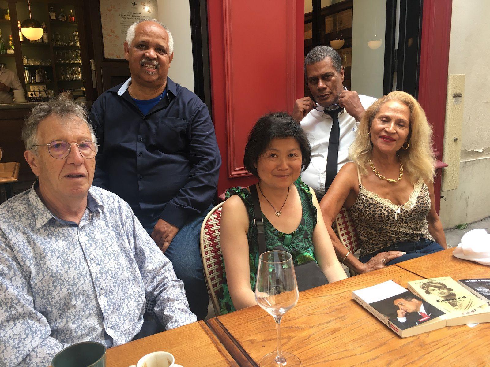 Pierre Chambert, René Bélénus, Thanh-van Ton-that, Jean-Benoît Desnel et Suzanne Dracius