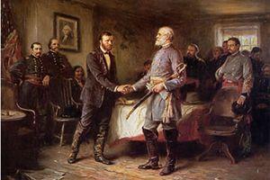 End of the American civil war in Appomattox