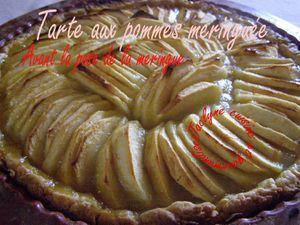 Tarte aux pommes meringuée, sur pâte ultra sablée à la crème Jaclyne www.cuisineetgourmandise.fr