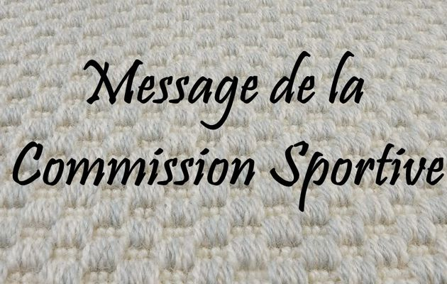 Message de Commission Sportive