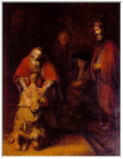 Le retour du fils prodigue, Rembrandt, 1669.