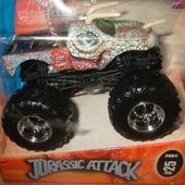 JURASSIC ATTACK HOT WHEELS 1/64 MONSTER JAM - car-collector.net
