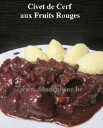 Civet de Cerf aux Vin rouge, Chocolat et Fruits Rouges ...