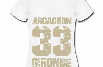 T shirt Aquitaine blanc femme Arcachon 33 Gironde