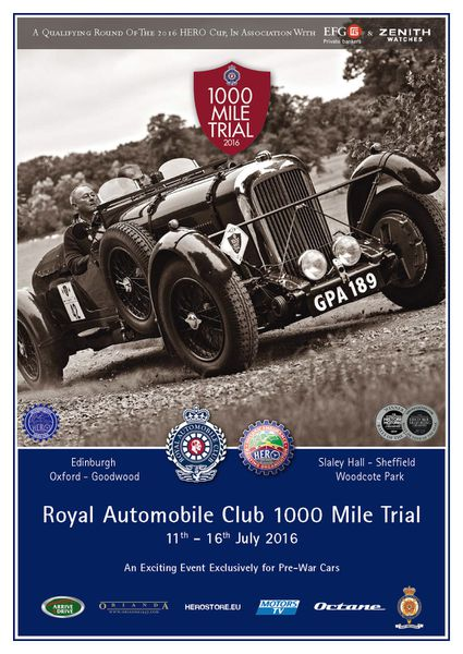2016 Royal Automobile Club 1000 Mile Trial Entry Opens