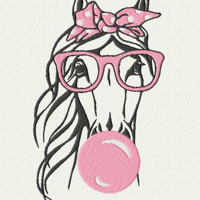 Cheval lunettes 2