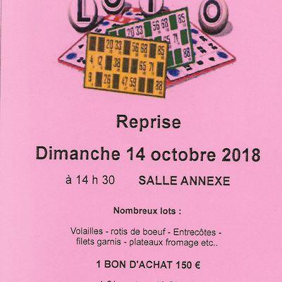Reprise de la saison des lotos à Saint-Vivien-de-Monségur