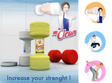 Mr. Clean 'Increase your strenght'!