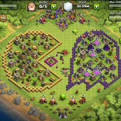 Clash of Clans : le village Pac-Man