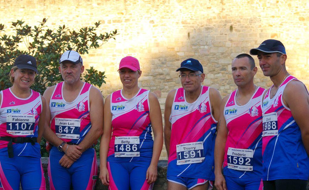 Dimanche 16 octobre. Six engagés du R2C, un grand BRAVO à toutes et tous particulièrement à Betty, Fabienne et David pour qui c'était le premier marathon.Photos Nathalie et Stéphane L.
