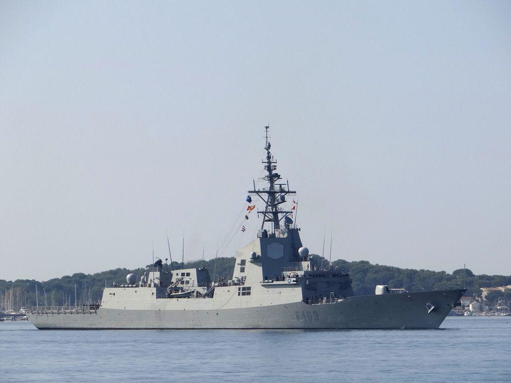 BLAS DE LEZO , F103 , frégate de la marine espagnole  entrant dans le port de Toulon le 27 septembre 2017