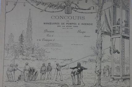 diplome des sapeurs pompiers de Senlis (Oise)