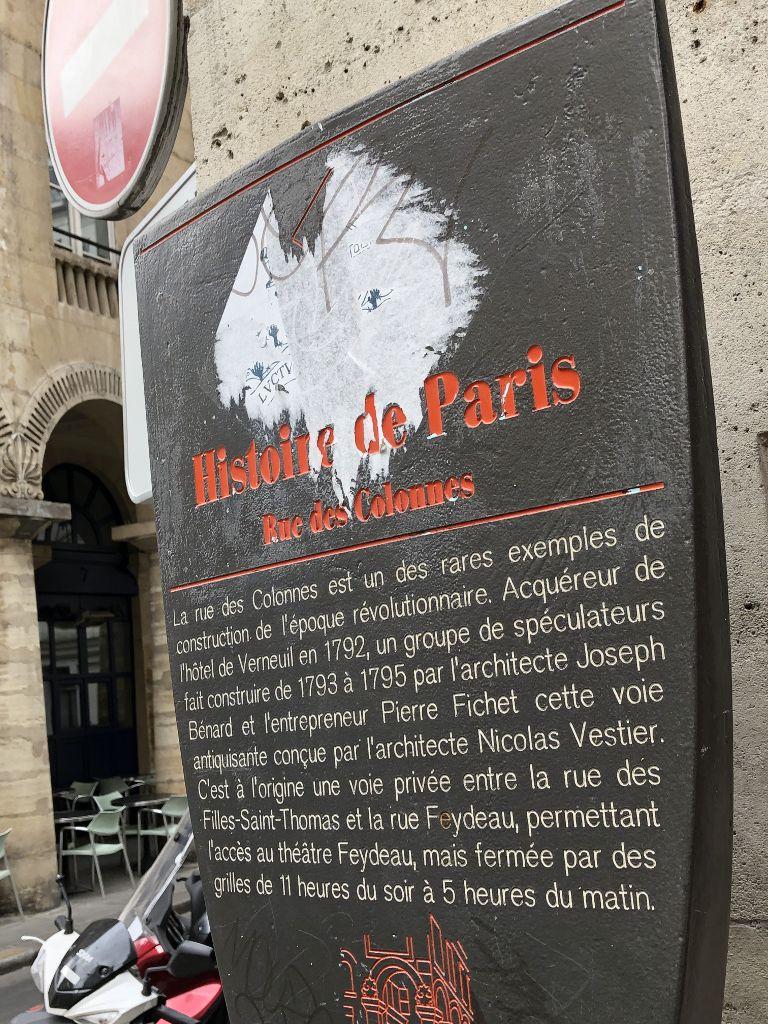 Rue des colonnes 2eme