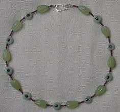 Collier en serpentine et amazonite.