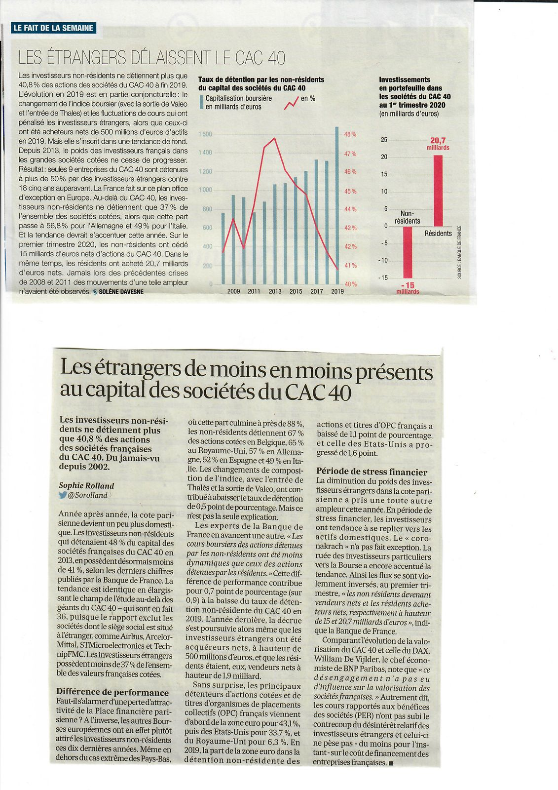 Vus et lus dans Les Echos du 30/09/20, et l'Usine Nouvelle n° 3677 du 08/10/20