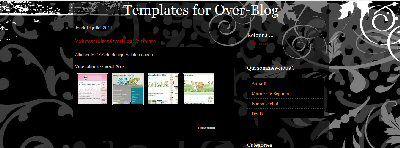 Volutes noires OverBlog Template